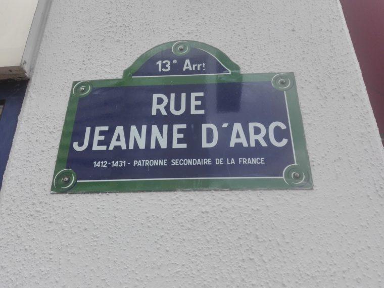 jeanne d'arc. 13 ème arrondissement. La Femme Qui Marche