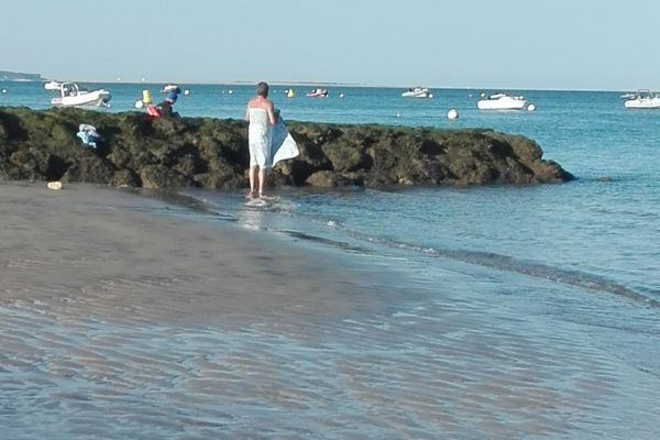 pyla sur mer : nager nu le matin