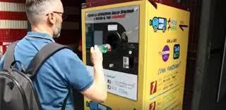 recyclage des bouteilles en plastique : on les échange contre des tickets de métro.
