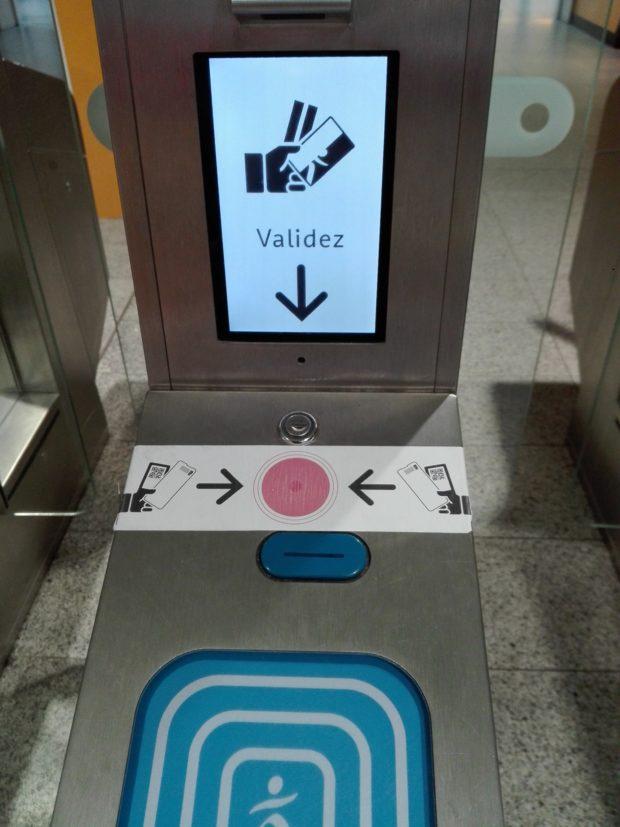 Gare st Lazare. Où présentez son e-billet ?