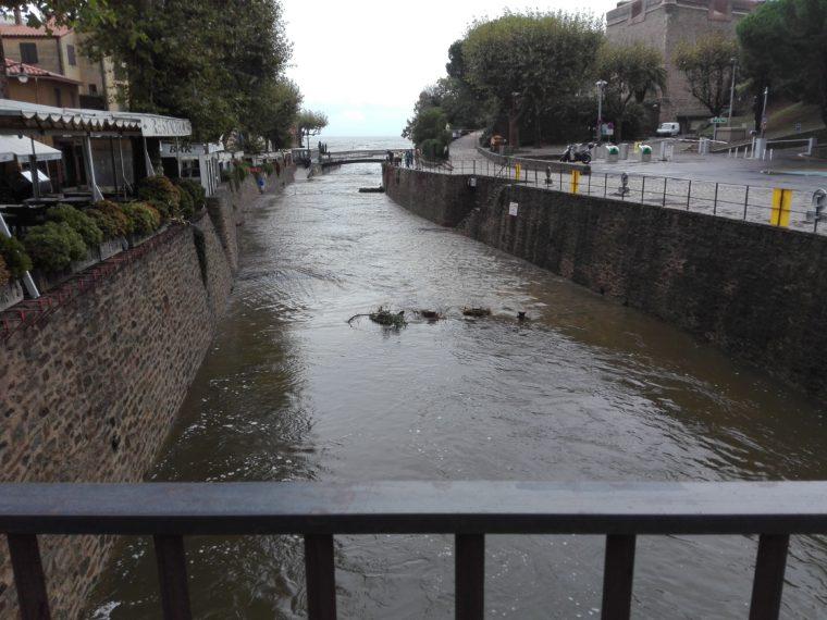 Collioure. Le douy inondé. La Femme Qui Marche