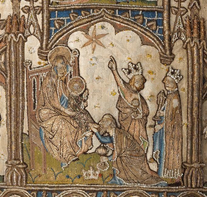 musée de Cluny : l'art de broder au Moyen-âge.