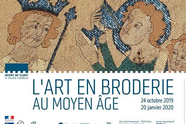 musée de cluny : broderie médiévale.