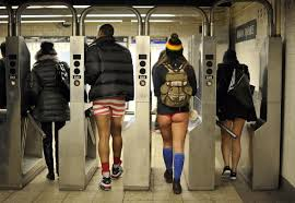 Londres. No Pants Subway Ride