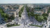 champs-elysées en 2030. exposition à l'arsenal. les parisiens votent pour donner leur avis.