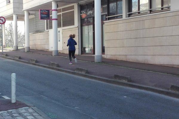 confinement coronavirus covid-19. halte au jogging.