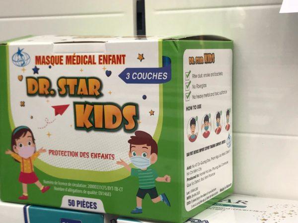 les masques pour enfant arrivent en France