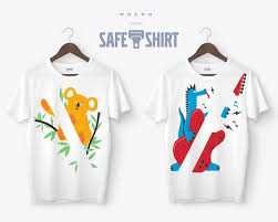un adorable #safetshirt volvo pour inciter les enfants à boucler leur ceinture.