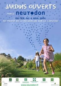 2014 affiche jardins ouverts pour le neurodon