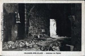 Oradour-sur-Glane. Ancienne église.