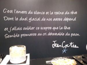 Galette Lenôtre texte Cocteau.