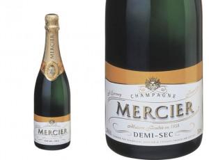 champagne Demi-Sec Mercier.