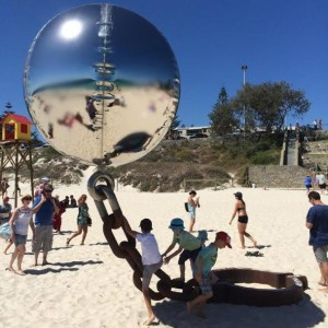 sculpture by the sea. Lucky country