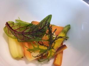 Senoble. Thierry marx. Soufflé carottes kumquat.