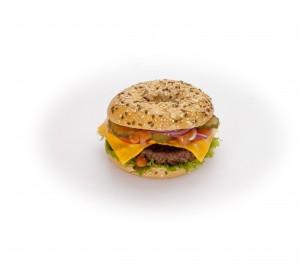 burger bagel fromage viande