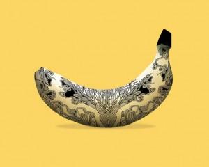 made in love. Préservatifs. Banane.