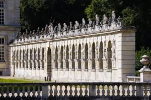 Château de Raray. Oise. Haies cynégétiques.