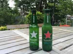 Heineken. Etoile blanche et rouge.