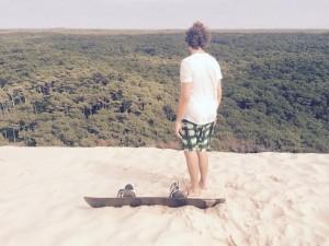 Dune du Pilat. Sandboarding. Crédit Photo : FrédéricRousset