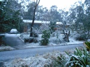 neige en australie