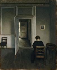 Vilhelm Hammershoi. Femme.