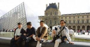 touristes chinois à paris.