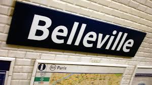 Belleville. Station de métro.