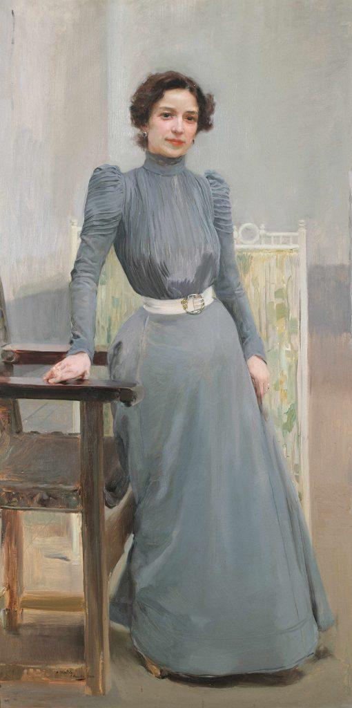 Clotilde à la robe grise. 1900. Museo Sorolla. Madrid.