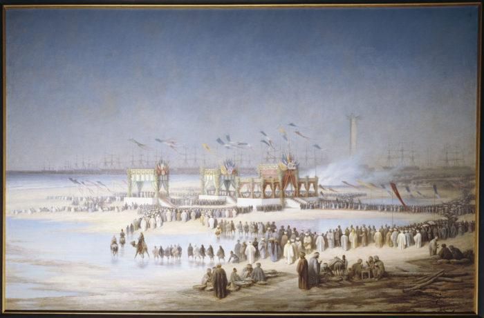 Inauguration du canal de suez.
