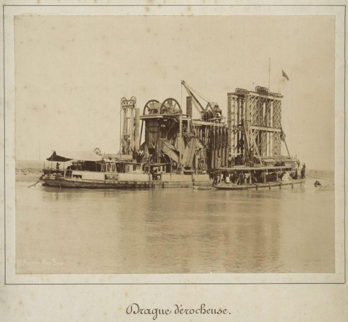 Construction du canal de Sueze