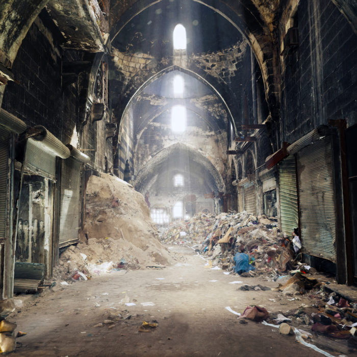 Image 3D du souk d'Alep.