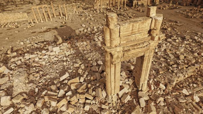 Temple de Bêl après la destruction par Daesch de Palmyre.