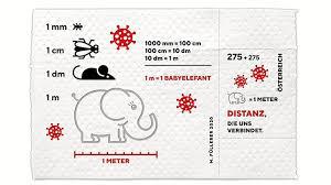 covid autriche.des timbres avec un éléphanteau sur du pq.