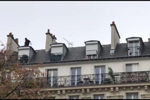 parkour. free running. toituropholie. se promener sur les toits.paris.