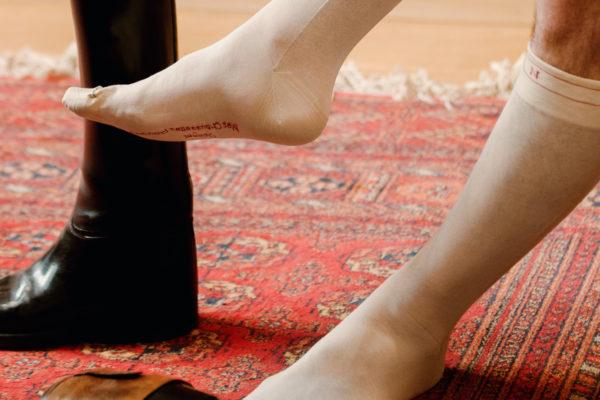 Portez les chausssettes de napoléon avec mes chaussettes rouges.